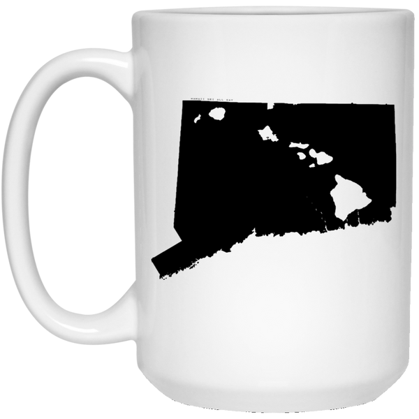 Connecticut and Hawaii Roots White Mug, Apparel, Hawaii Nei All Day