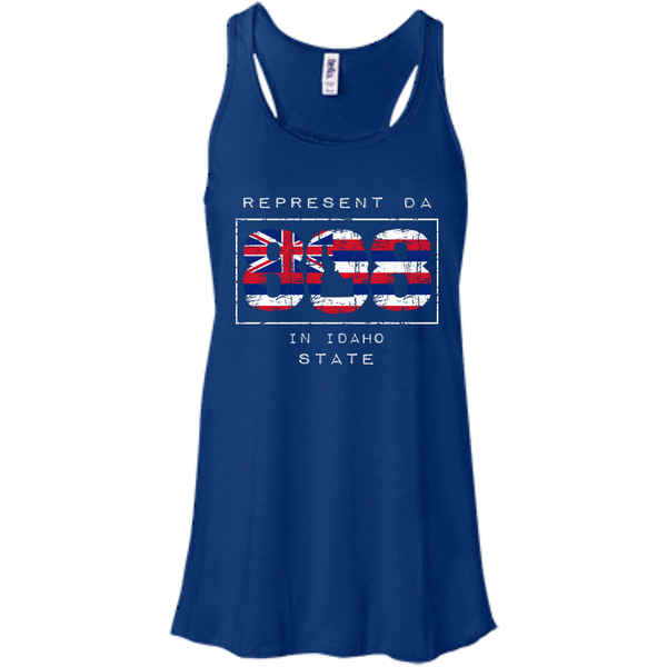 Represent Da 808 In Idaho State Bella + Canvas Flowy Racerback Tank, T-Shirts, Hawaii Nei All Day, Hawaii Clothing Brands