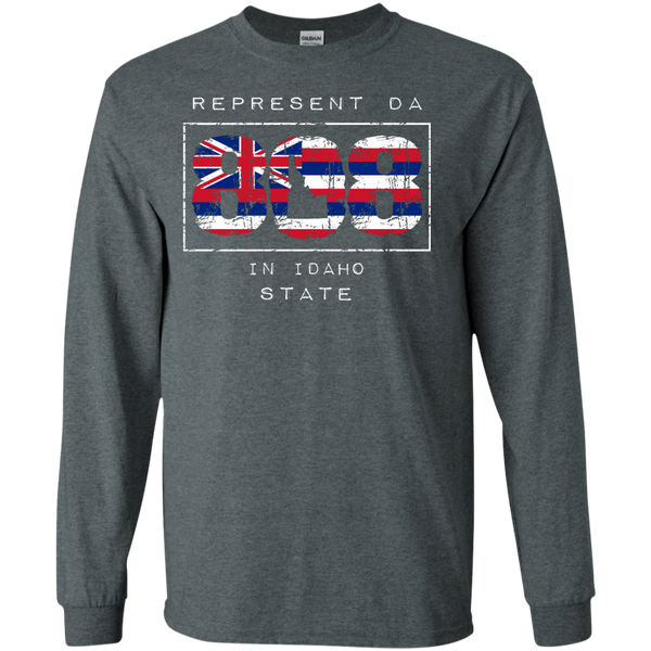Represent Da 808 In Idaho State LS Ultra Cotton T-Shirt, T-Shirts, Hawaii Nei All Day, Hawaii Clothing Brands