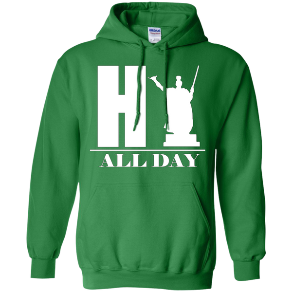 HI ALL DAY Pullover Hoodie 8 oz, Hoodies, Hawaii Nei All Day, Hawaii Clothing Brands