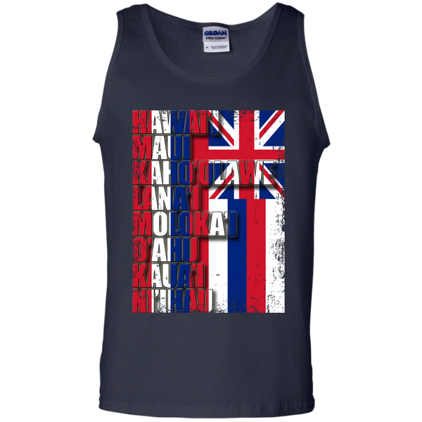 Hawaiian Island Pride 100% Cotton Tank Top, T-Shirts, Hawaii Nei All Day