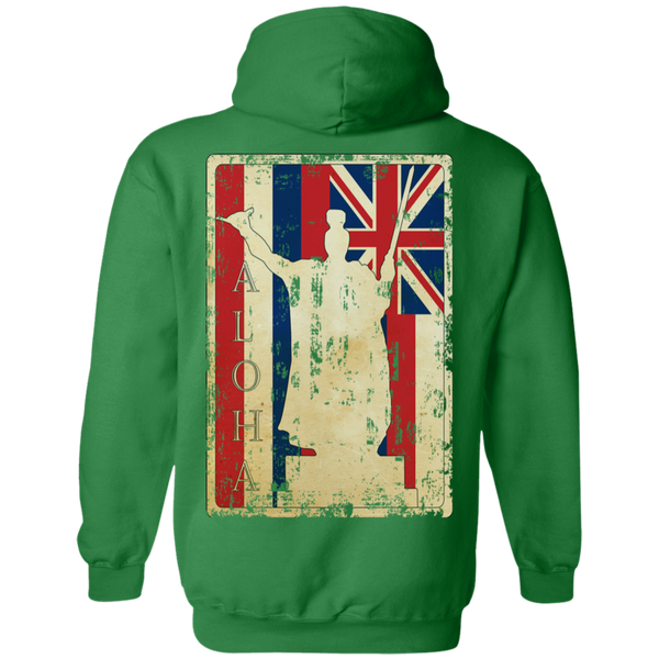 Along King Kamehameha Pullover Hoodie(back design), Sweatshirts, Hawaii Nei All Day