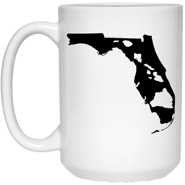 Florida and Hawaii Roots White Mug, Apparel, Hawaii Nei All Day