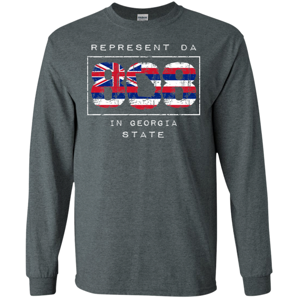 Rep Da 808 In Georgia State LS Ultra Cotton T-Shirt, T-Shirts, Hawaii Nei All Day