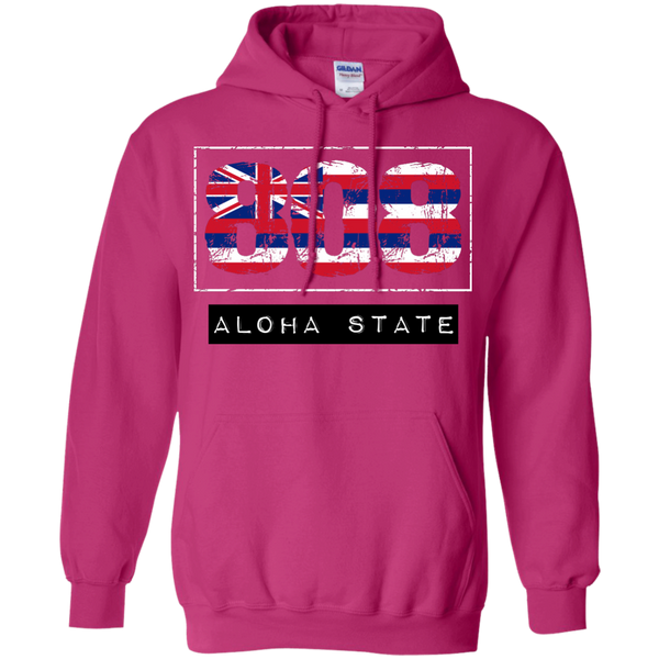 808 Aloha State Pullover Hoodie 8 oz, Hoodies, Hawaii Nei All Day, Hawaii Clothing Brands