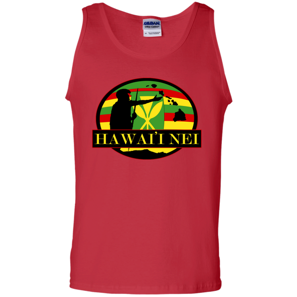 Hawai'i Nei Kanaka Maoli 100% Cotton Tank Top, Sleeveless, Hawaii Nei All Day