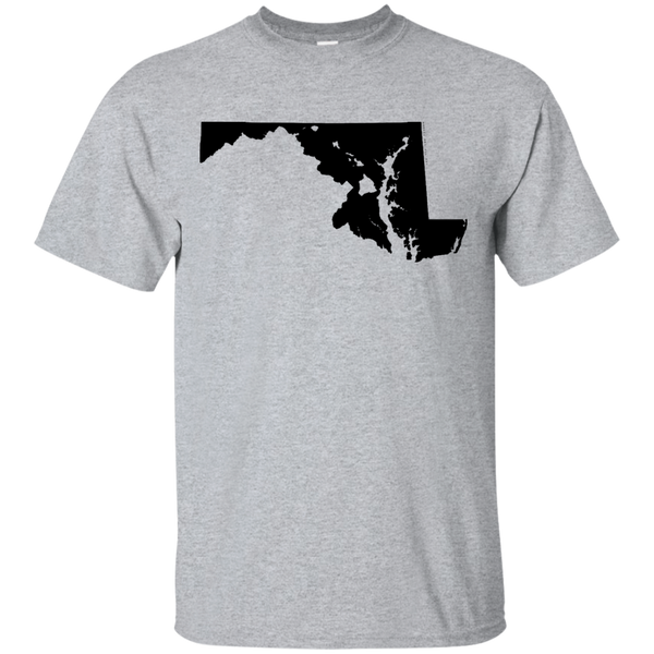 Living in Maryland with Hawaii Roots Ultra Cotton T-Shirt, T-Shirts, Hawaii Nei All Day