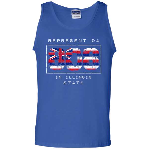 Rep Da 808 In Illinois State 100% Cotton Tank Top, T-Shirts, Hawaii Nei All Day