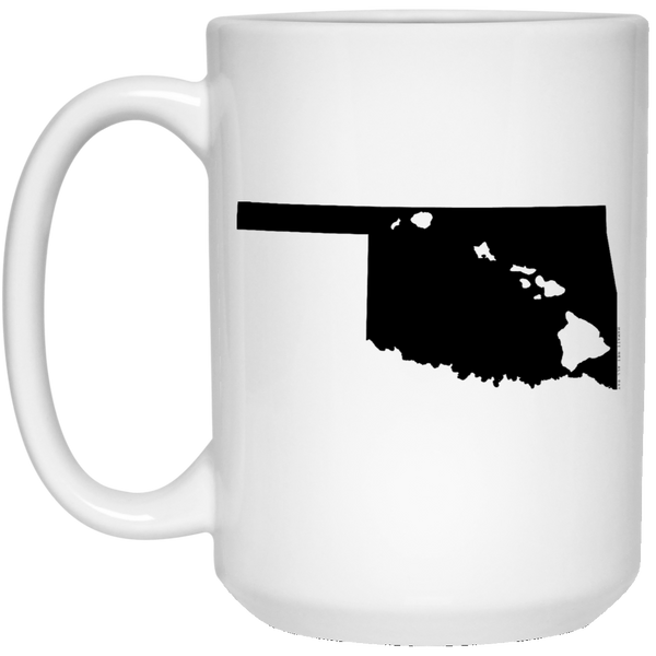 Oklahoma and Hawaii Roots White Mug, Apparel, Hawaii Nei All Day
