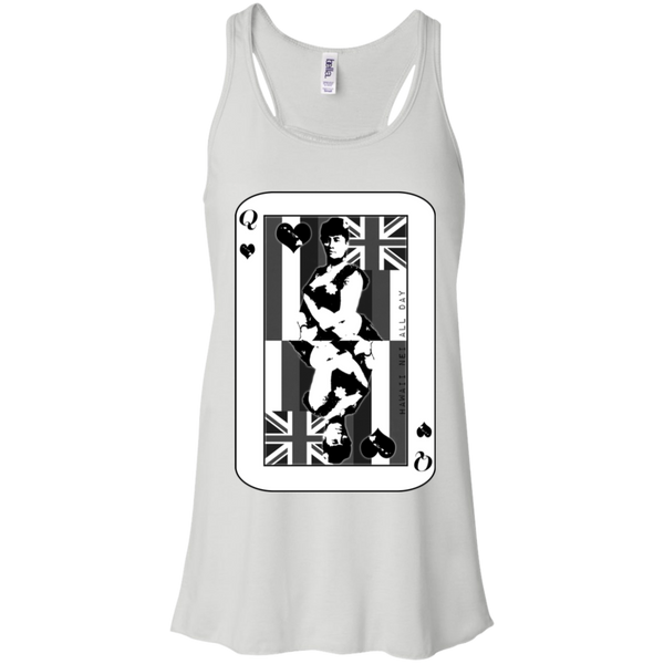 The Queen of Hawai'i Liliuokalani (black ink) Racerback Tank