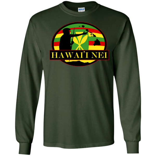 Hawai'i Nei Kanaka Maoli LS Ultra Cotton Tshirt, Long Sleeve, Hawaii Nei All Day, Hawaii Clothing Brands