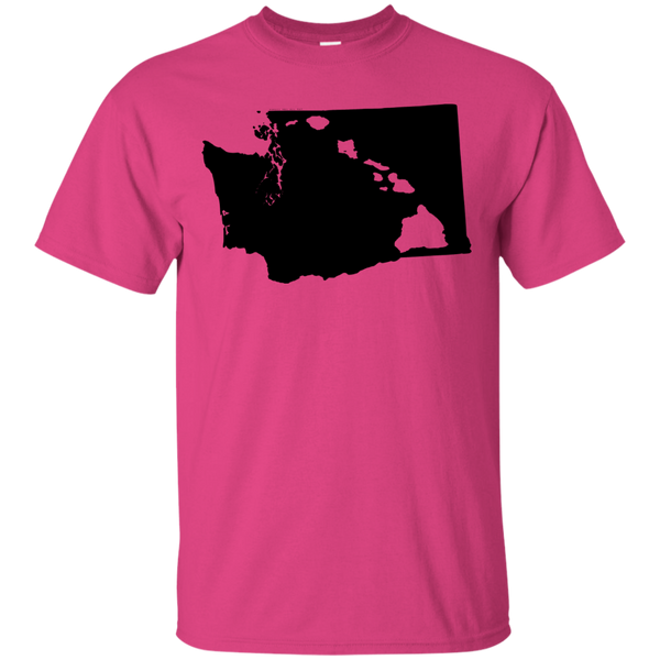 Living in Washington with Hawaii Roots Ultra Cotton T-Shirt, Short Sleeve, Hawaii Nei All Day