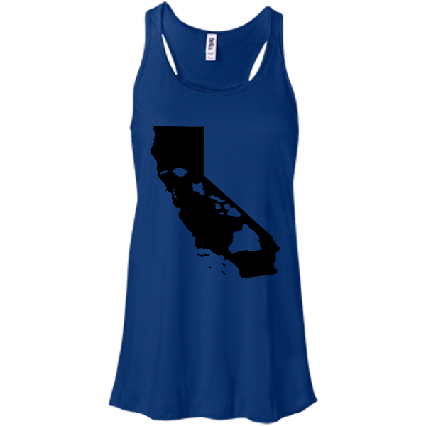 Living In Cali With Hawaii Roots Bella+Canvas Flowy Racerback Tank, , Hawaii Nei All Day, Hawaii Clothing Brands