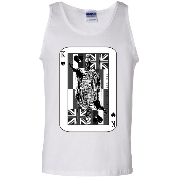 The King of Hawai'i Kamehameha (black ink) 100% Cotton Tank Top, T-Shirts, Hawaii Nei All Day