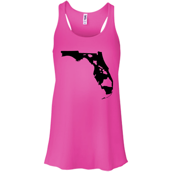 Living In Florida With Hawaii Roots Bella+Canvas Flowy Racerback Tank, , Hawaii Nei All Day