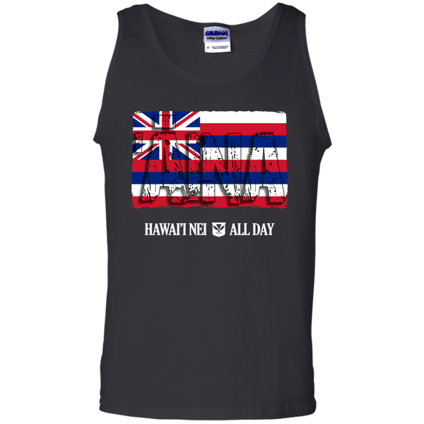 'Aina Hawai'i Nei 100% Cotton Tank Top, T-Shirts, Hawaii Nei All Day, Hawaii Clothing Brands