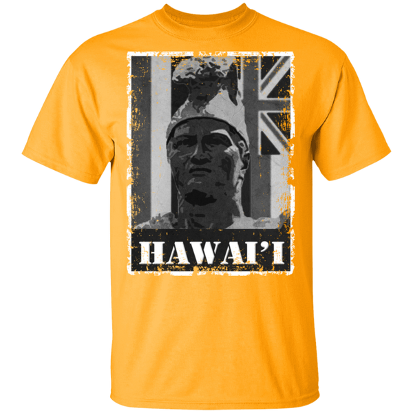 Hawai'i King Kamehameha (B&W) T-Shirt, T-Shirts, Hawaii Nei All Day