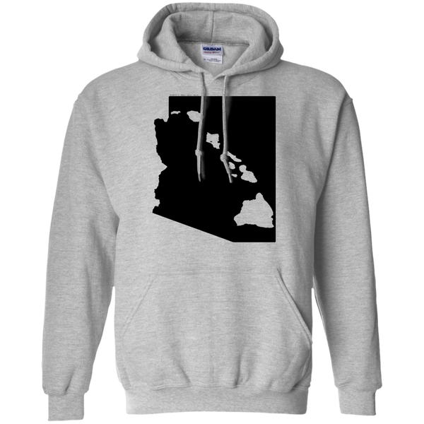 Living in Arizona with Hawaii Roots Pullover Hoodie 8 oz., Sweatshirts, Hawaii Nei All Day, Hawaii Clothing Brands