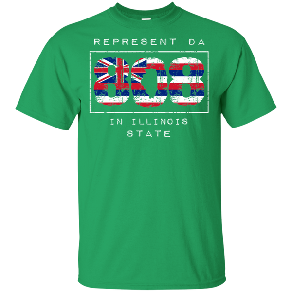 Rep Da 808 In Illinois State Ultra Cotton T-Shirt, T-Shirts, Hawaii Nei All Day