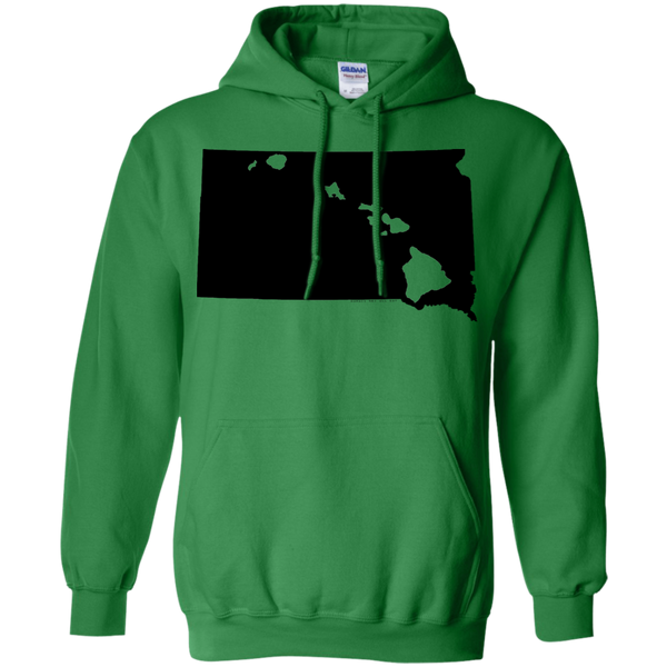 Living in South Dakota with Hawaii Roots Pullover Hoodie 8 oz., Sweatshirts, Hawaii Nei All Day, Hawaii Clothing Brands