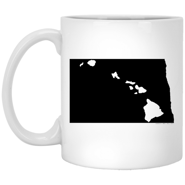 North Dakota and Hawaii Roots White Mug, Apparel, Hawaii Nei All Day
