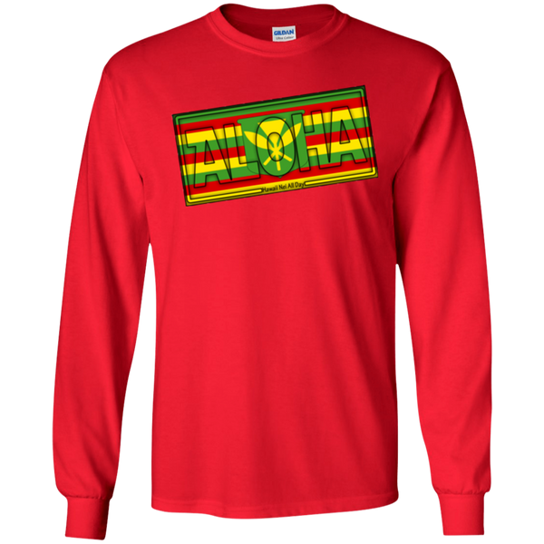 Aloha Hawai'i Kanaka Maoli Ultra Cotton LS T-Shirt, T-Shirts, Hawaii Nei All Day, Hawaii Clothing Brands