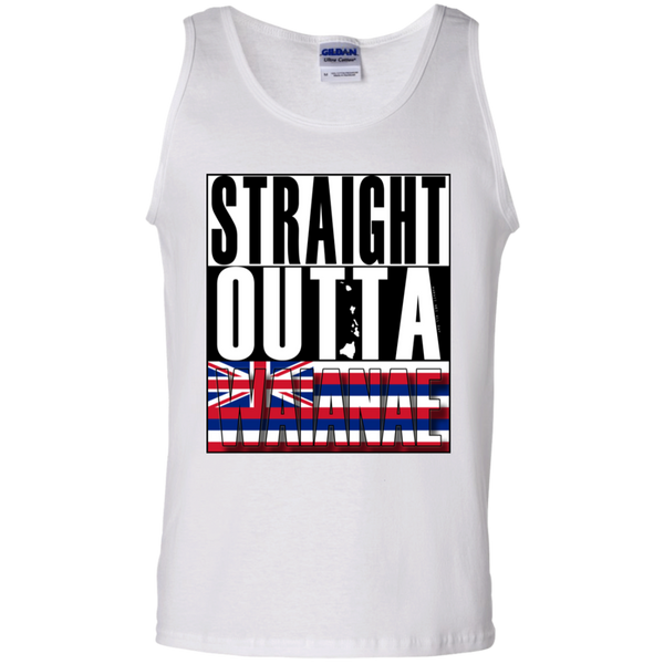 Straight Outta Waianae Hawai'i 100% Cotton Tank Top, T-Shirts, Hawaii Nei All Day