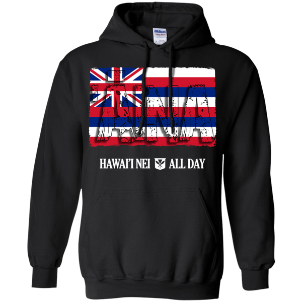 'Aina Hawai'i Nei Pullover Hoodie 8 oz., Sweatshirts, Hawaii Nei All Day, Hawaii Clothing Brands