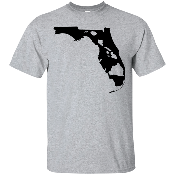 Living In Florida With Hawaii Roots Custom Ultra Cotton T-Shirt, Short Sleeve, Hawaii Nei All Day