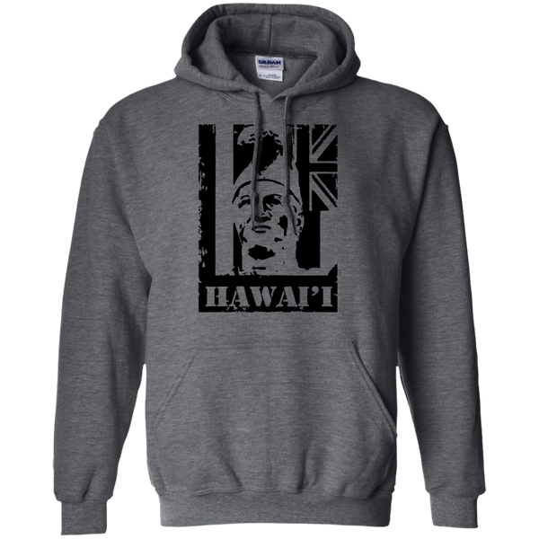 Hawai'i King Kamehameha Pullover Hoodie, Sweatshirts, Hawaii Nei All Day