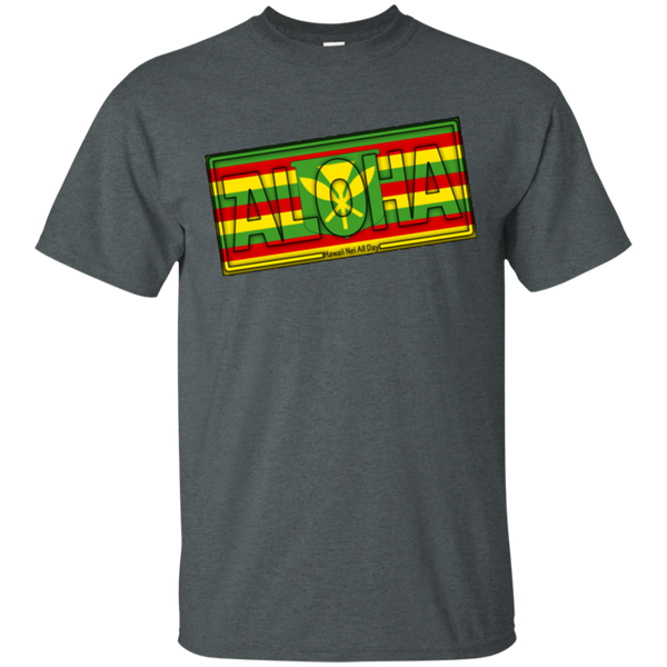 Aloha Hawai'i Kanaka Maoli Ultra Cotton T-Shirt, T-Shirts, Hawaii Nei All Day, Hawaii Clothing Brands