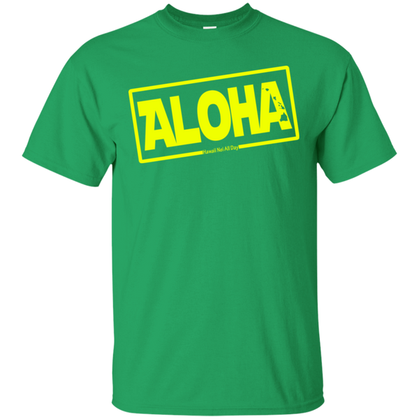 Aloha Hawai'i Nei (Islands yellow ink) Ultra Cotton T-Shirt, T-Shirts, Hawaii Nei All Day