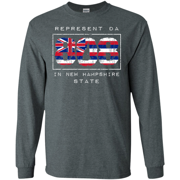 Rep Da 808 In New Hampshire State LS Ultra Cotton T-Shirt, T-Shirts, Hawaii Nei All Day