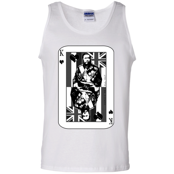 The King of Hawai'i Kalakaua(black ink) 100% Cotton Tank Top, T-Shirts, Hawaii Nei All Day