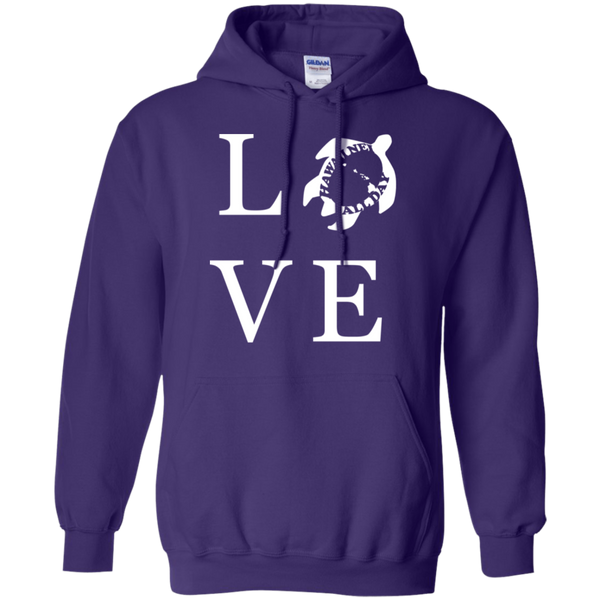 Honu LOVE (white) Pullover Hoodie, Sweatshirts, Hawaii Nei All Day