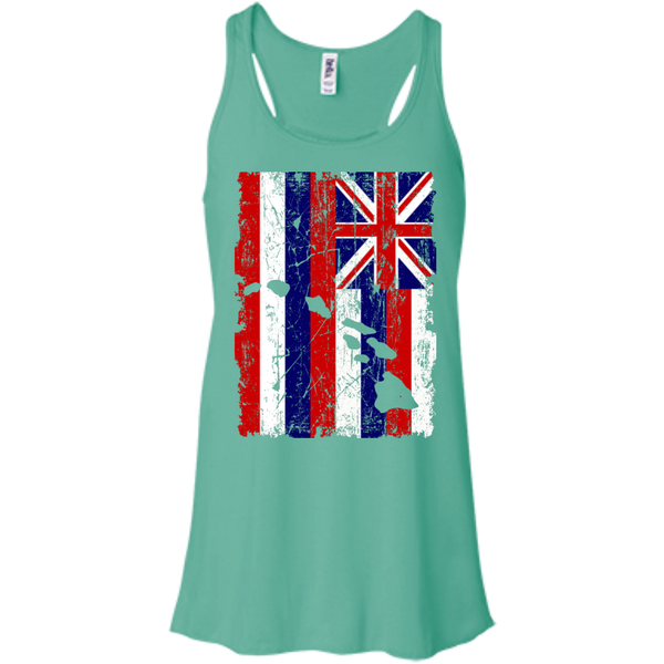 Hawaii - The Aloha State Bella+Canvas Flowy Racerback Tank, , Hawaii Nei All Day, Hawaii Clothing Brands