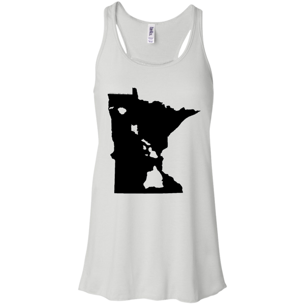Living in Minnesota with Hawaii Roots Bella + Canvas Flowy Racerback Tank, T-Shirts, Hawaii Nei All Day