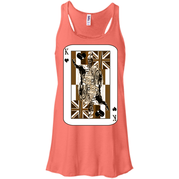 The King of Hawai'i Bella+Canvas Flowy Racerback Tank, , Hawaii Nei All Day, Hawaii Clothing Brands