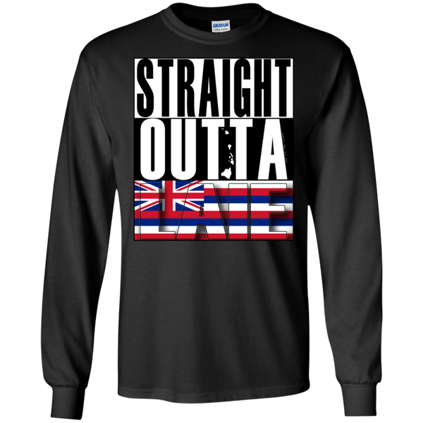 Straight Outta Laie Hawai'i LS Ultra Cotton T-Shirt, T-Shirts, Hawaii Nei All Day