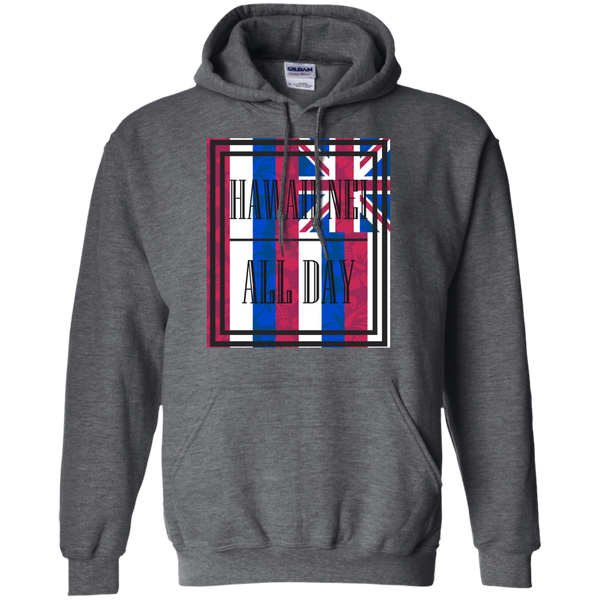 Hawai'i Floral Flag Pullover Hoodie, Sweatshirts, Hawaii Nei All Day