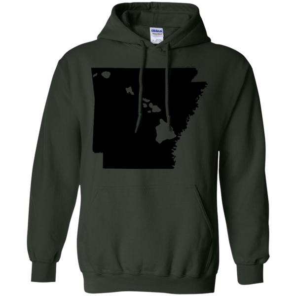 Living in Arkansas with Hawaii Roots Pullover Hoodie, Sweatshirts, Hawaii Nei All Day