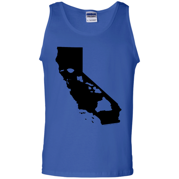 Living In California With Hawaii Roots 100% Cotton Tank Top, Sleeveless, Hawaii Nei All Day, Hawaii Clothing Brands