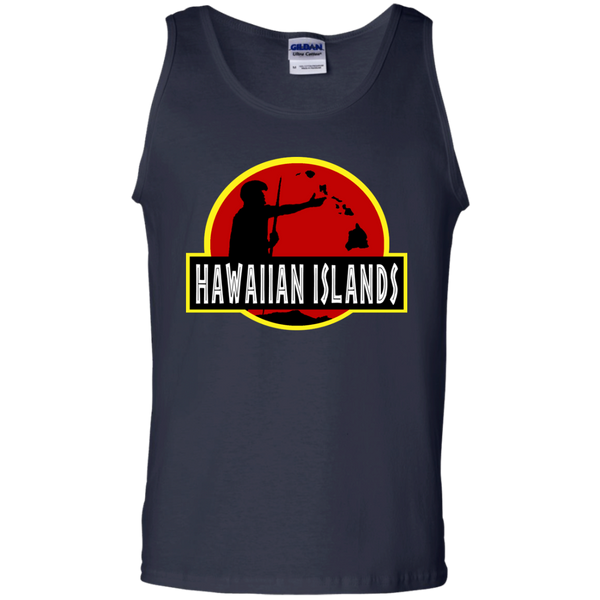 Hawaiian Islands 100% Cotton Tank Top, Sleeveless, Hawaii Nei All Day