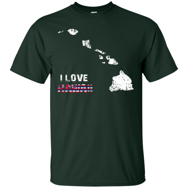 I Love Hawaii(islands) Custom Ultra Cotton T-Shirt, Short Sleeve, Hawaii Nei All Day, Hawaii Clothing Brands