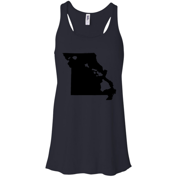 Living in Missouri with Hawaii Roots Bella + Canvas Flowy Racerback Tank, T-Shirts, Hawaii Nei All Day
