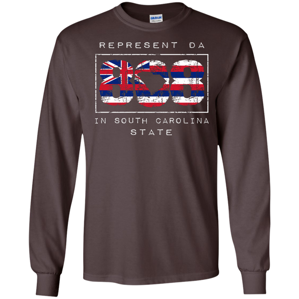 Rep Da 808 In South Carolina State LS Ultra Cotton Tshirt, Long Sleeve, Hawaii Nei All Day