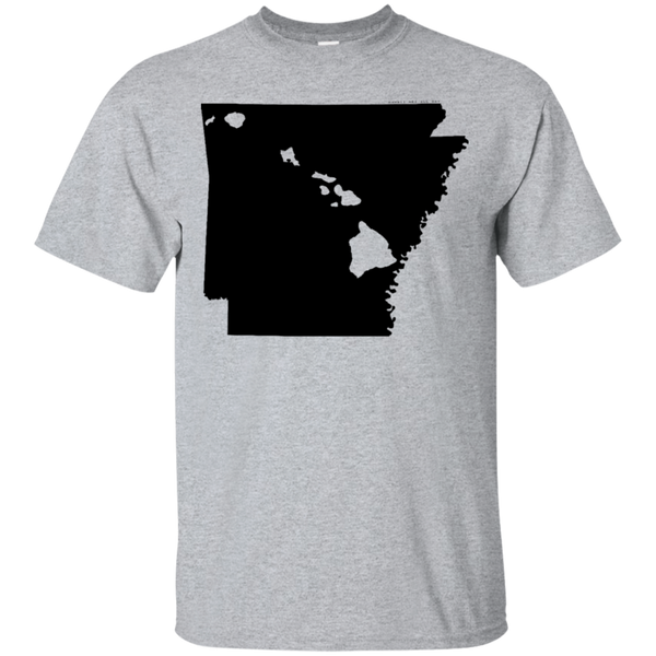 Living in Arkansas with Hawaii Roots Ultra Cotton T-Shirt, T-Shirts, Hawaii Nei All Day