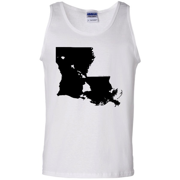 Living in Louisiana with Hawaii Roots 100% Cotton Tank Top, T-Shirts, Hawaii Nei All Day