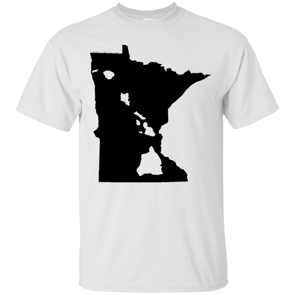 Living in Minnesota with Hawaii Roots Ultra Cotton T-Shirt, T-Shirts, Hawaii Nei All Day