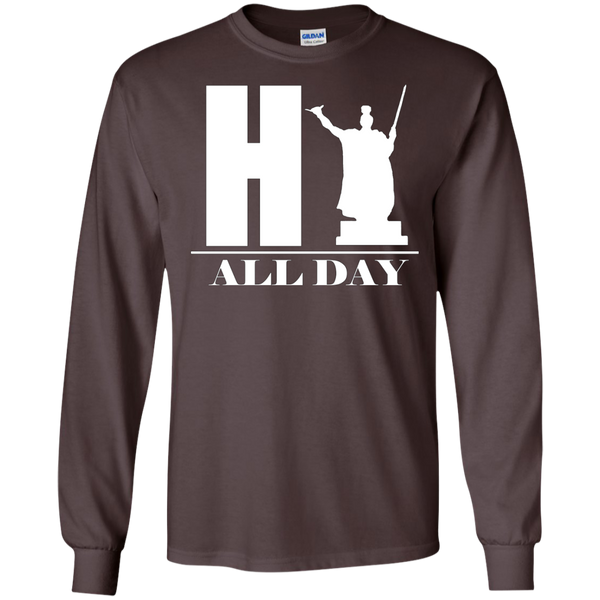 HI ALL DAY LS Ultra Cotton Tshirt, Long Sleeve, Hawaii Nei All Day